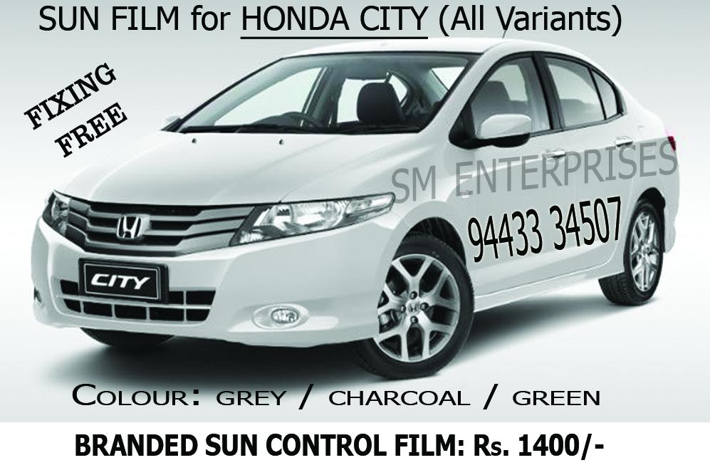Honda City Sun Film Garware